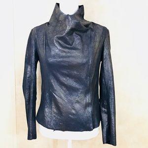 ZARA Faux Leather Suede Jacket Large